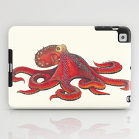 Red Octopus iPad Case by haleyivers