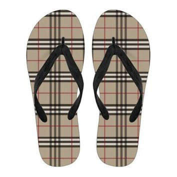 Women's Flip Flops Inspired By Burberry