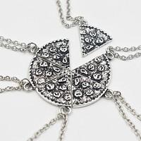 Christmas Gifts 6pcs Pizza Pendant Necklaces Friendship Necklace Best Friends Forever Creative Keepsake Memorial Day Christmas Gift For Friend