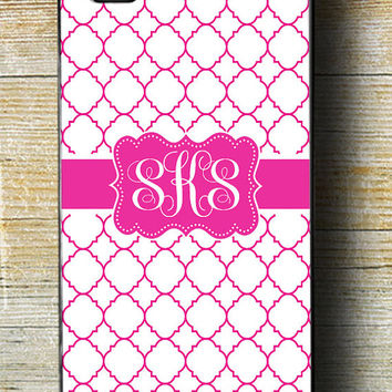 Pink iPhone 6 Case, Monogram iPhone 6 Plus case, Tough iPhone 5 Case, Pink 5c iphone case, Pink iPhone 5 with Monogram