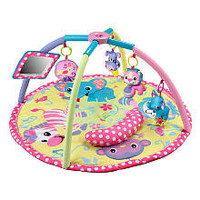 Infantino Twist and Fold Activity Gym - Baby Girl Animals