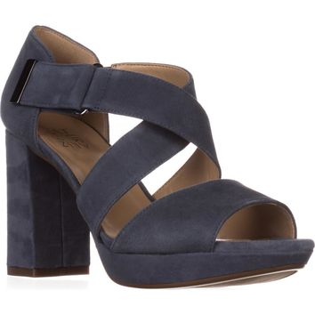 naturalizer Harper Platform Sandals, Paris Blue, 8.5 US / 38.5 EU