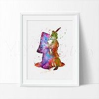 Robin Hood & Maid Marian Watercolor Art Print