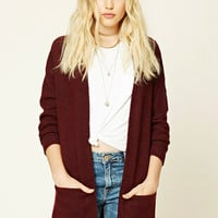 Longline Brushed Knit Cardigan