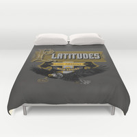 Platitudes Look Awesome With Eagles! Duvet Cover by Joshua Kemble