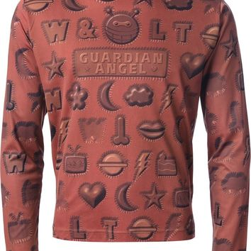 Walter Van Beirendonck Vintage guardian angel shapes print t-shirt