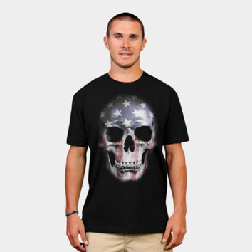 American Skull T Shirt By NGDesign Design By Humans