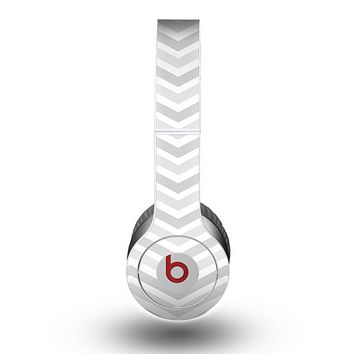 The Subtle Wide White & Gray Chevron Skin for the Beats by Dre Original Solo-Solo HD Headphones
