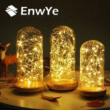 DCCKWQA EnwYe 3XAA Battery 10M 100 LED String Lights for Xmas Garland Party Wedding Decoration Christmas Flasher Fairy Lights