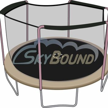 SkyBound 14 Foot Trampoline Net - Fits 14 Foot Frames with 3 Arch Enclosures