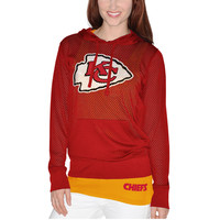 Women's Kansas City Chiefs Red Holey Hooded T-Shirt & Tank Top Set