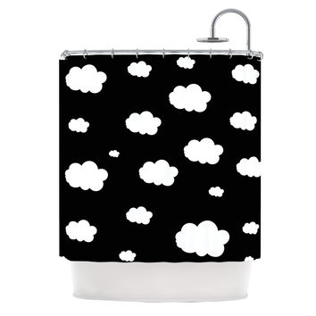 "Suzanne Carter ""Clouds"" Black White Shower Curtain"