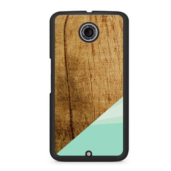 Wood Teal Geometric Nexus 6 case