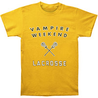 Vampire Weekend Men's  Lacrosse Slim Fit T-shirt Gold Rockabilia