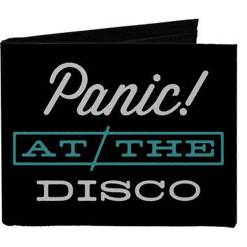 Panic! At The Disco Men's Panic @ The Disco White Teal Bi-Fold Wallet