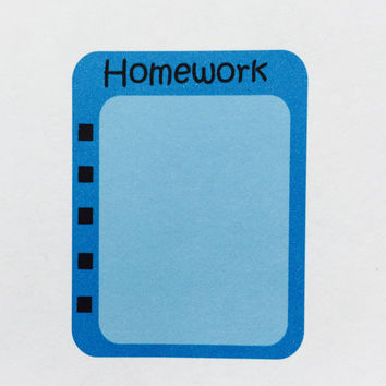 Homework Boxes *Custom Colored* | Planner Stickers | Erin Condren Inspired