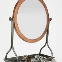 4040 Locust Tabletop Swivel Mirror- Brown One