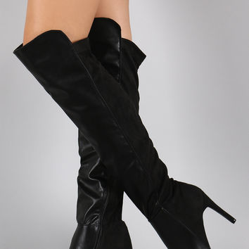 Breckelle Pointy Toe Stiletto Over-The-Knee Boots