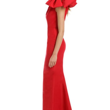 Carolina Herrera Red Kennedy Gown