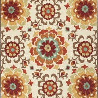 Storm Area Rug Red, Multi-Color