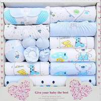 Latest design 100% cotton newborn baby clothing sets 15pcs infants suit baby girls boys clothes Xmas gift