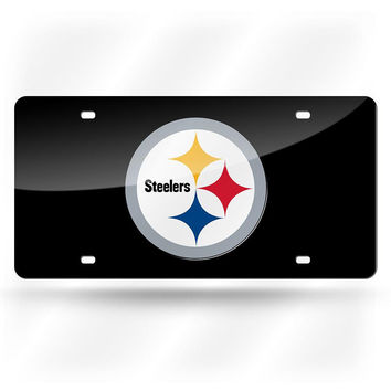 Pittsburgh Steelers NFL Laser Cut License Plate Cover Colored