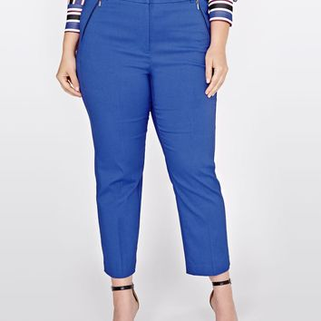 Michel Studio Straight Leg Cropped Alexa Pant | Addition Elle