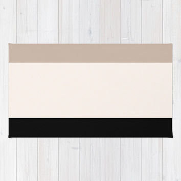 Colorblock area rug 2x3 rug Living room 3x5 rug 4x6 area rug neutral throw rug beige floor rug bedroom rug colorblock dorm room rug