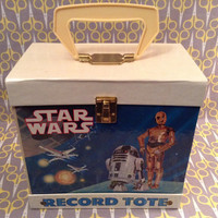 Vintage 1980s Star Wars Record Tote record storage box 45 Platter Pak lp vinyl carrier case