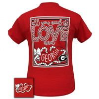 SALE Georgia Bulldogs All You Need Is Love T-Shirt