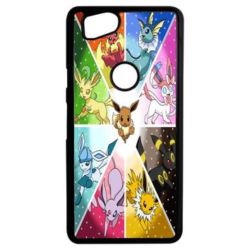 Pokemon The Eeveelutions Google Pixel 2 Case