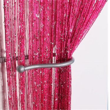 New Design Sheers Door Flower Curtain Window Room Drape Divider Floral Scarf Valance Voile Gift Free Shipping DN911