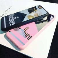 On Sale Stylish Hot Sale Iphone 6/6s Hot Deal Cute Couple Mirror Strong Character Silicone Soft Phone Case [6034153537]