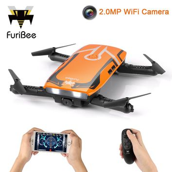 FuriBee H818 Mini Drone Remote Control Quadcopter With 2.0MP HD Camera WiFi Camera vs JJRC H37 XS809HW Drones Toys Gift