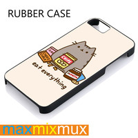 Pusheen The Cat Perfect iPhone 4/4S, 5/5S, 5C, 6/6 Plus Series Rubber Case