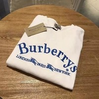 Burberry Fashion Men Women Sweater Top White