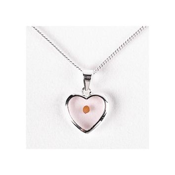 Cherishables Silver-plated Metal Mustard Seed Heart Necklace