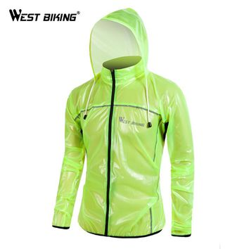 WEST BIKING Raincoat MTB Cycling Jersey Jacket Waterproof Windproof TPU Raincoat Bike Bicycle Raincoat Cycling Clothes
