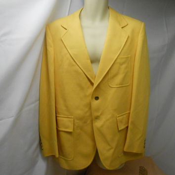 Vintage Lemon Yellow Men's Sportcoat/Blazer ! Fun and colorful !  By Marman of SanFranscisco- Union Label