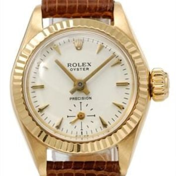 Rolex Oyster 18K Gold Women's Watch, 9/10 Condition - Luxury Watches: Rolex, Cartier, Hamilton And More - Modnique.com