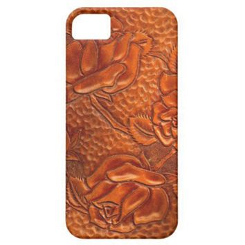 Vintage Tooled Western Leather Roses Iphone 5 Case from Zazzle.com