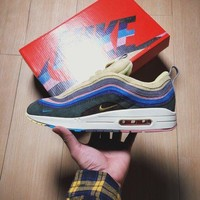 ONETOW Sean Wotherspoon x Nike Air Max 97 / 1 VF SW Hybrid Retro AJ4219-400 Sport Running Shoes Sale