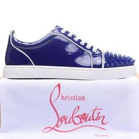 ONETOW Best Online Sale Christian Louboutin Louis Junior Spikes Men's Women's Flat Dar