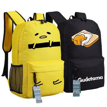 New Gudetama Backpack Cartoon Anime bags Student oxford Schoolbags AS Gift