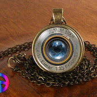 Handmade Fashion Camera Lens Glass Photo Pendant Necklace Gift for Photographers