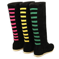 Women's Boots Shoes Boots Stretch Long Over The Knee Boots Womens Autumn Winter Booties Thigh High Boots Flat Shoe Woman Booties