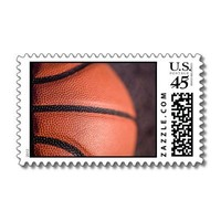 Basketball Stamps from Zazzle.com
