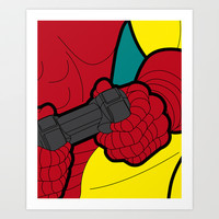 The secret life of heroes - IronGame Art Print by Greg-guillemin
