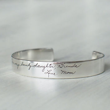 Personalized Handwriting Cuff Bracelet PB07