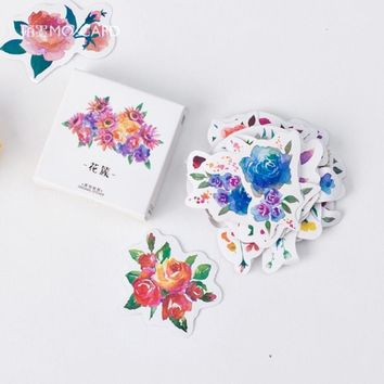 MO.CARD (45 pieces/lot) Flower Baking Gift Packing Stickers Diy Decoration Stationery Scrapbooking Planner Memo Label sticker